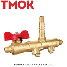 DN10 brass nickle plating horizontal gas valve